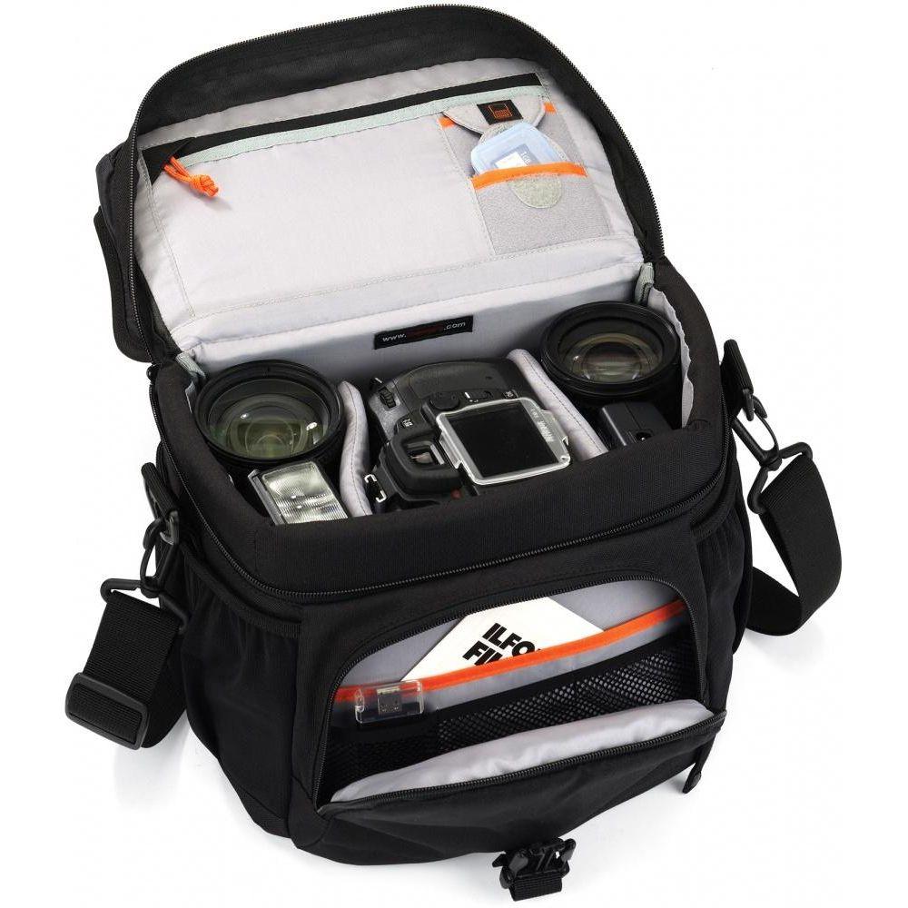 4a36b697f58d Сумка Lowepro Nova 180 AW позволит с удобством переносить фотоаппарат, не  беспокоясь о его сохранности. Благодаря специальным карманам вы быстро  найдете ...