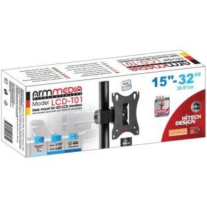 Купить Кронштейн для монитора Arm Media LCD-T01 цвет чёрный