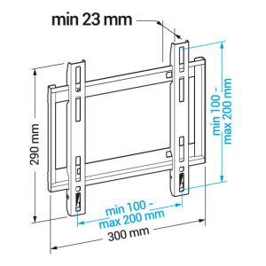 Купить Кронштейн для телевизора Holder LCD-F2608 цвет чёрный