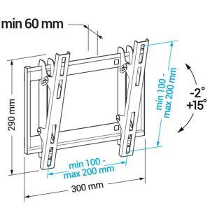 Купить Кронштейн для телевизора Holder LCD-T2609 цвет чёрный