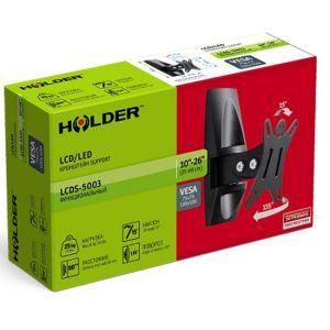 Купить Кронштейн для телевизора Holder LCDS-5003 цвет чёрный