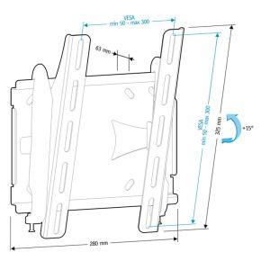 Купить Кронштейн для телевизора Holder LCDS-5010 цвет черный/металлик