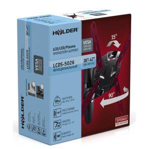 Купить Кронштейн для телевизора Holder LCDS-5026 цвет чёрный