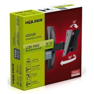 Купить Кронштейн для телевизора Holder LCDS-5063 black цвет чёрный