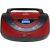 Магнитола Telefunken TF-CSRP3497B цвет чёрный/красный