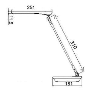 Купить Настольный светильник Трансвит Sirius C16 BL