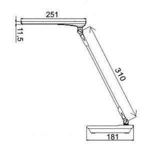 Купить Настольный светильник Трансвит Sirius C16 BLU