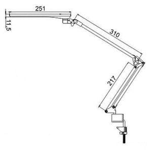 Купить Настольный светильник Трансвит Sirius C16C (SIRIUSC16C/BL)