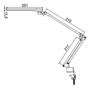Купить Настольный светильник Трансвит Sirius C16C (SIRIUSC16C/WH)