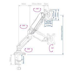 Купить Кронштейн для монитора Arm Media LCD-T21w