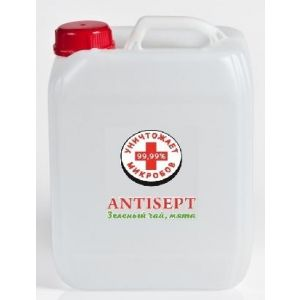 Купить Антисептик Antisept зел. чай и мята, 5 литров