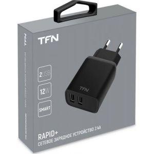 Купить Сетевое зарядное устройство TFN TFN-W CRPD12W2UBK цвет чёрный