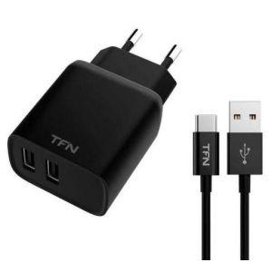 Купить Сетевое зарядное устройство TFN TFN-WCRPD12W2U01 цвет чёрный