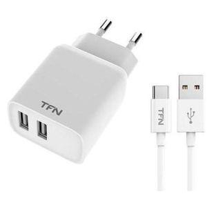 Купить Сетевое зарядное устройство TFN TFN-WCRPD12W2U02 цвет белый