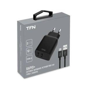 Купить Сетевое зарядное устройство TFN TFN-WCRPD12W2U03 цвет чёрный