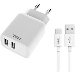 Купить Сетевое зарядное устройство TFN TFN-WCRPD12W2U04 цвет белый