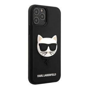 Купить Чехол для телефона Lagerfeld choupette head 3d rubber case для iPhone 12 ProMax (KLHCP12LCH3DBK) цвет чёрный