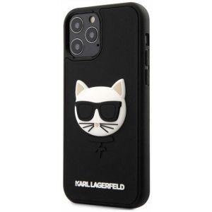 Купить Чехол для телефона Lagerfeld choupette head 3d rubber case для iPhone 12/12Pro (KLHCP12MCH3DBK) цвет черный