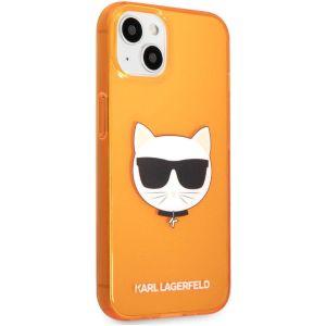 Купить Чехол для телефона Lagerfeld TPU FLUO CASE CHOUPETTE'S HEAD для iPhone 13 (KLHCP13MCHTRO) цвет оранжевый