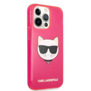 Купить Чехол для телефона Lagerfeld TPU FLUO CASE CHOUPETTE'S HEAD для iPhone 13 Pro (KLHCP13LCHTRP) цвет розовый