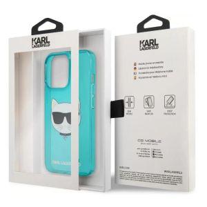 Купить Чехол для телефона Lagerfeld TPU FLUO CASE CHOUPETTE'S HEAD для iPhone 13 Pro, синий (KLHCP13LCHTRB) цвет синий